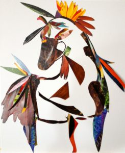 Horsefeathers Collage 14 in x 17.5 in